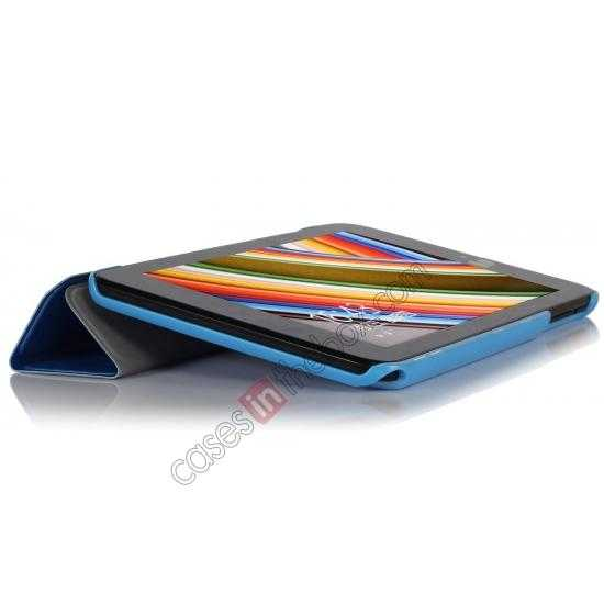 top quality Ultra Slim Tri Fold Leather Case Cover for ASUS VivoTab Note8 M80TA - Blue