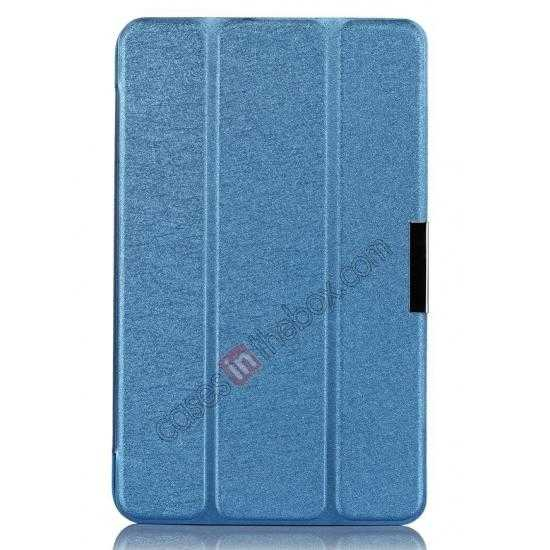 best price Ultra Slim Tri Fold Leather Case Cover for ASUS VivoTab Note8 M80TA - Blue