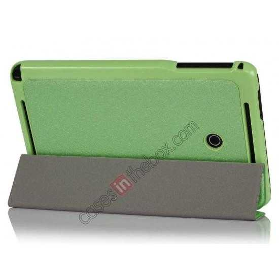 wholesale Ultra Slim Tri Fold Leather Case Cover for ASUS VivoTab Note8 M80TA - Green