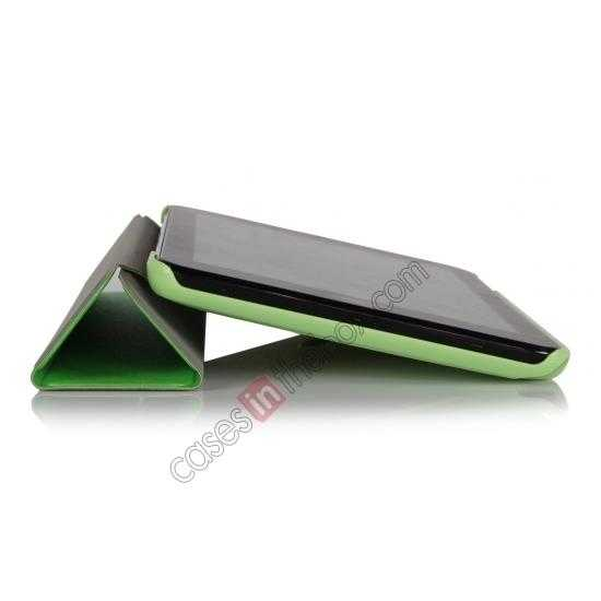 cheap Ultra Slim Tri Fold Leather Case Cover for ASUS VivoTab Note8 M80TA - Green