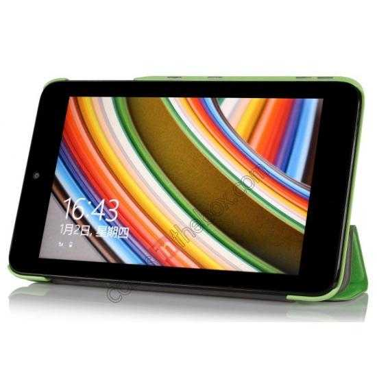 discount Ultra Slim Tri Fold Leather Case Cover for ASUS VivoTab Note8 M80TA - Green