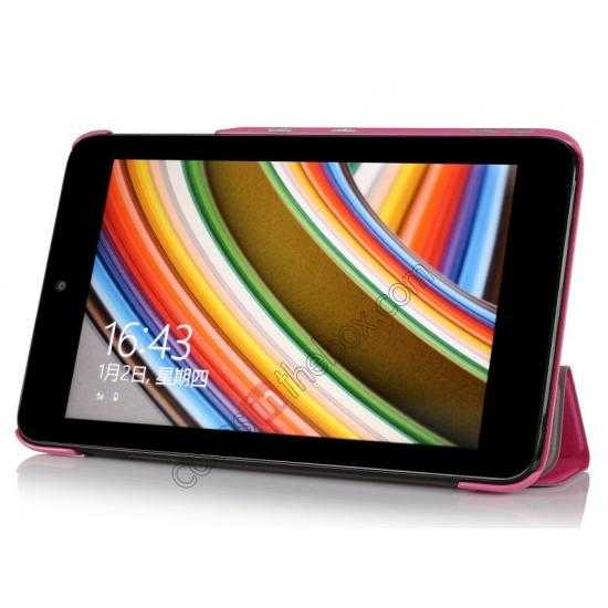 discount Ultra Slim Tri Fold Leather Case Cover for ASUS VivoTab Note8 M80TA - Pink