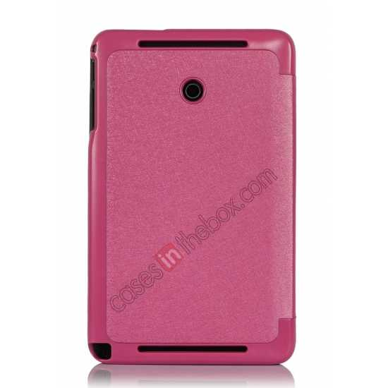 best price Ultra Slim Tri Fold Leather Case Cover for ASUS VivoTab Note8 M80TA - Pink