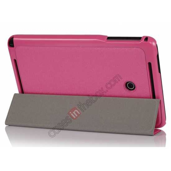 wholesale Ultra Slim Tri Fold Leather Case Cover for ASUS VivoTab Note8 M80TA - Pink