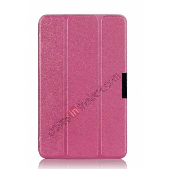 top quality Ultra Slim Tri Fold Leather Case Cover for ASUS VivoTab Note8 M80TA - Pink