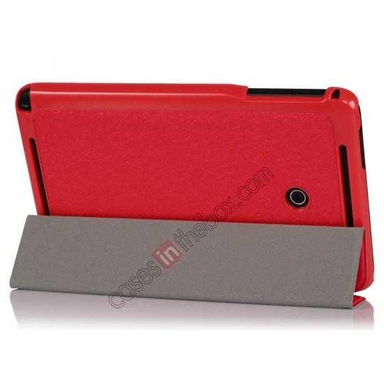 wholesale Ultra Slim Tri Fold Leather Case Cover for ASUS VivoTab Note8 M80TA - Red