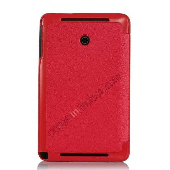 best price Ultra Slim Tri Fold Leather Case Cover for ASUS VivoTab Note8 M80TA - Red