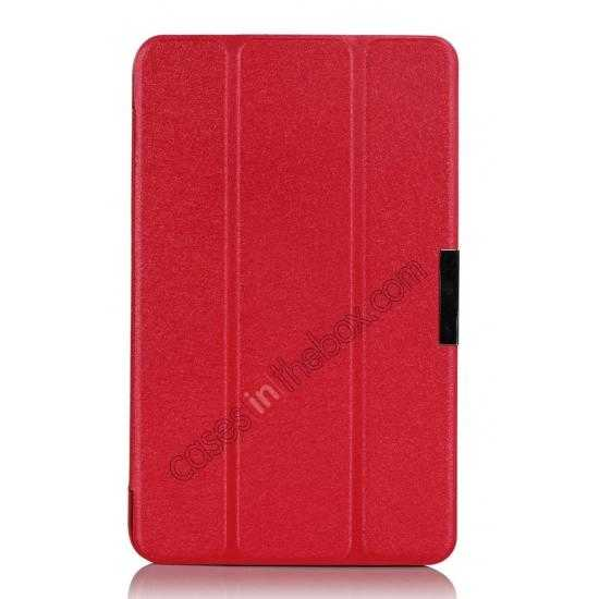 top quality Ultra Slim Tri Fold Leather Case Cover for ASUS VivoTab Note8 M80TA - Red