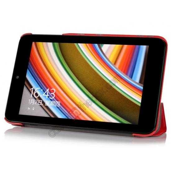 discount Ultra Slim Tri Fold Leather Case Cover for ASUS VivoTab Note8 M80TA - Red