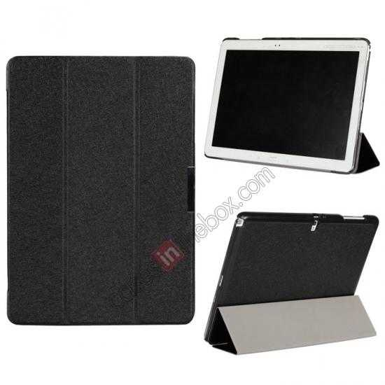 wholesale Ultra Slim Tri Fold Leather Case Cover for Samsung Galaxy Note Pro 12.2 P900 - Black