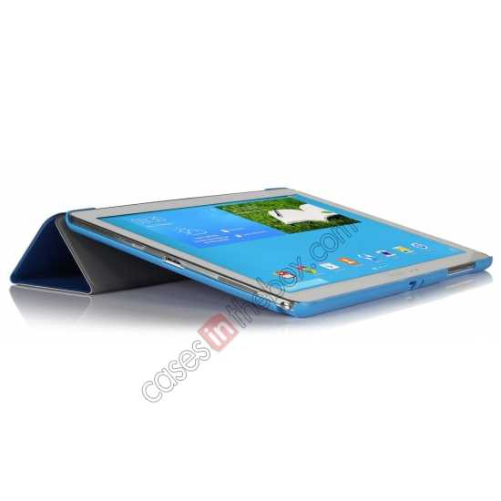 top quality Ultra Slim Tri Fold Leather Case Cover for Samsung Galaxy Note Pro 12.2 P900 - Blue