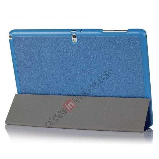 cheap Ultra Slim Tri Fold Leather Case Cover for Samsung Galaxy Note Pro 12.2 P900 - Blue