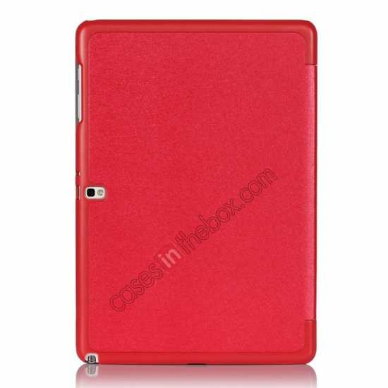 on sale Ultra Slim Tri Fold Leather Case Cover for Samsung Galaxy Note Pro 12.2 P900 - Red
