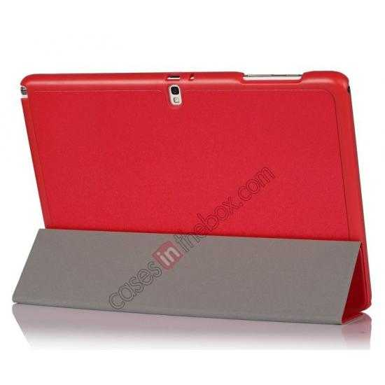 cheap Ultra Slim Tri Fold Leather Case Cover for Samsung Galaxy Note Pro 12.2 P900 - Red