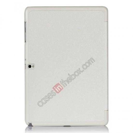 on sale Ultra Slim Tri Fold Leather Case Cover for Samsung Galaxy Note Pro 12.2 P900 - White