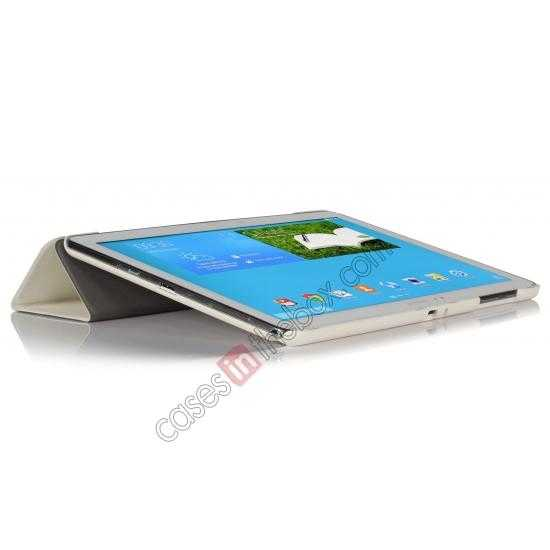 top quality Ultra Slim Tri Fold Leather Case Cover for Samsung Galaxy Note Pro 12.2 P900 - White