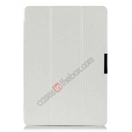 best price Ultra Slim Tri Fold Leather Case Cover for Samsung Galaxy Note Pro 12.2 P900 - White