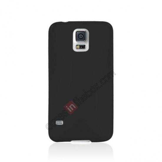 cheap Ultra Thin Slim Hard Back Case Cover For Samsung Galaxy S5 - Black