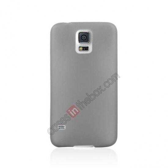 cheap Ultra Thin Slim Hard Back Case Cover For Samsung Galaxy S5 - Grey