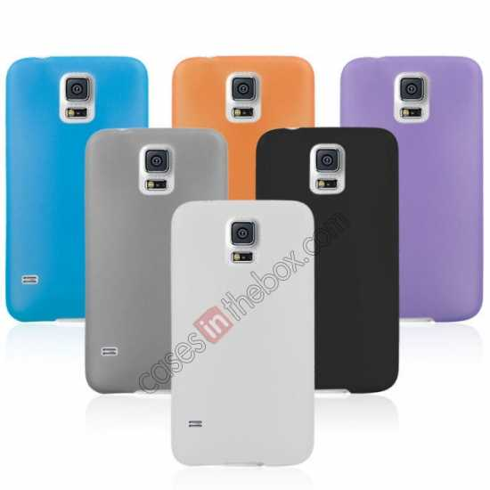 top quality Ultra Thin Slim Hard Back Case Cover For Samsung Galaxy S5 - Grey