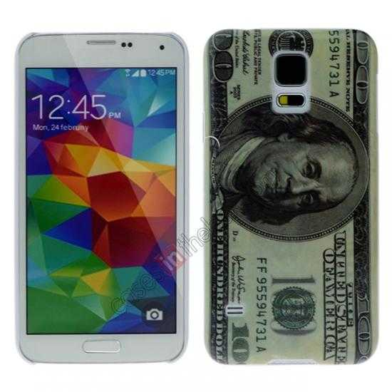 wholesale USA 100 dollar bill money hard plastic case for Samsung Galaxy S5