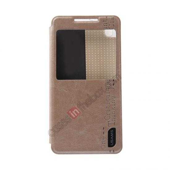 discount USAMS Merry Series Flip Leather Stand Case for HTC Desire 816 - Champagne Gold