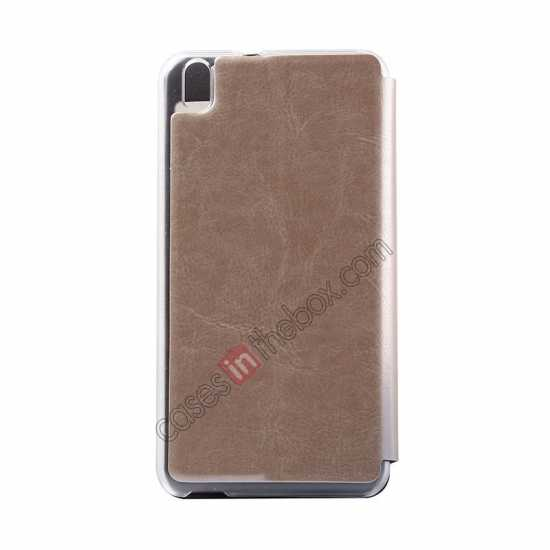 cheap USAMS Merry Series Flip Leather Stand Case for HTC Desire 816 - Champagne Gold