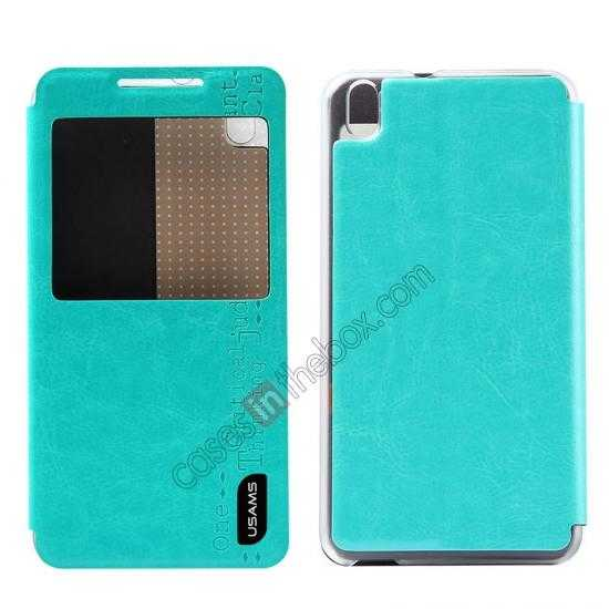 wholesale USAMS Merry Series Flip Leather Stand Case for HTC Desire 816 - Green