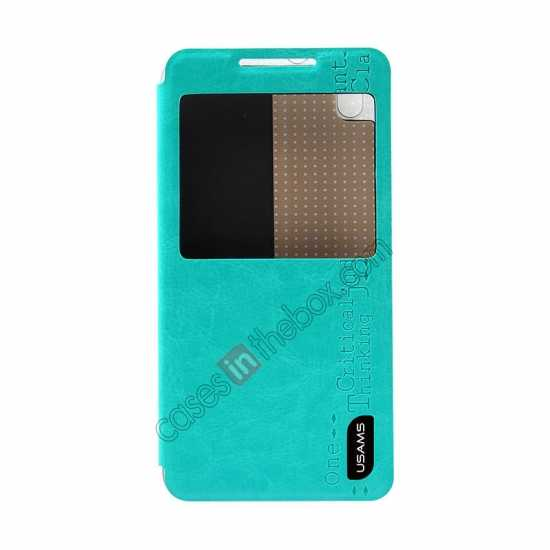 discount USAMS Merry Series Flip Leather Stand Case for HTC Desire 816 - Green