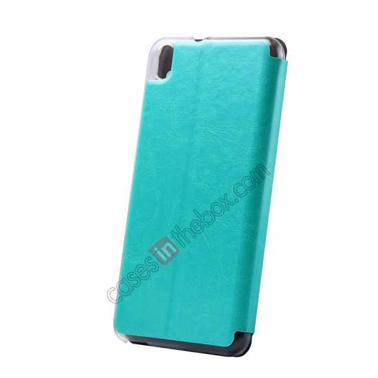 top quality USAMS Merry Series Flip Leather Stand Case for HTC Desire 816 - Green