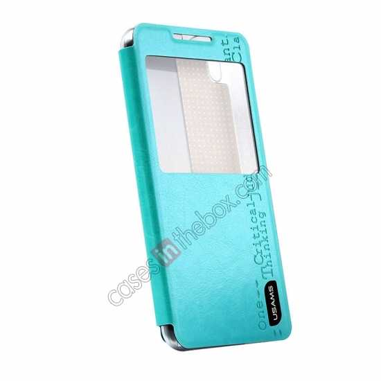 best price USAMS Merry Series Flip Leather Stand Case for HTC Desire 816 - Green