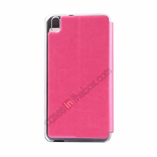 cheap USAMS Merry Series Flip Leather Stand Case for HTC Desire 816 - Rose