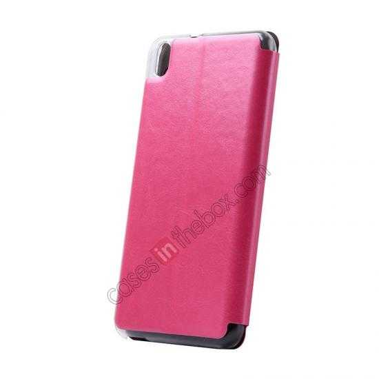 top quality USAMS Merry Series Flip Leather Stand Case for HTC Desire 816 - Rose