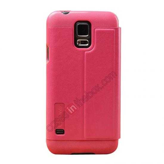 cheap USAMS Merry Series Leather Side Flip Case for Samsung Galaxy S5 - Rose