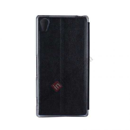 cheap USAMS Merry Series Leather Side Flip Case for Sony Xperia Z2 - Black