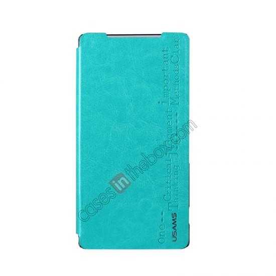 discount USAMS Merry Series Leather Side Flip Case for Sony Xperia Z2 - Green