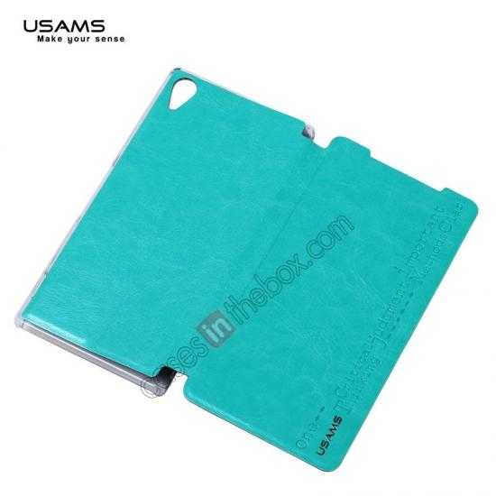 top quality USAMS Merry Series Leather Side Flip Case for Sony Xperia Z2 - Green