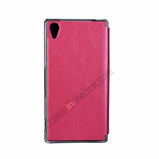 cheap USAMS Merry Series Leather Side Flip Case for Sony Xperia Z2 - Rose