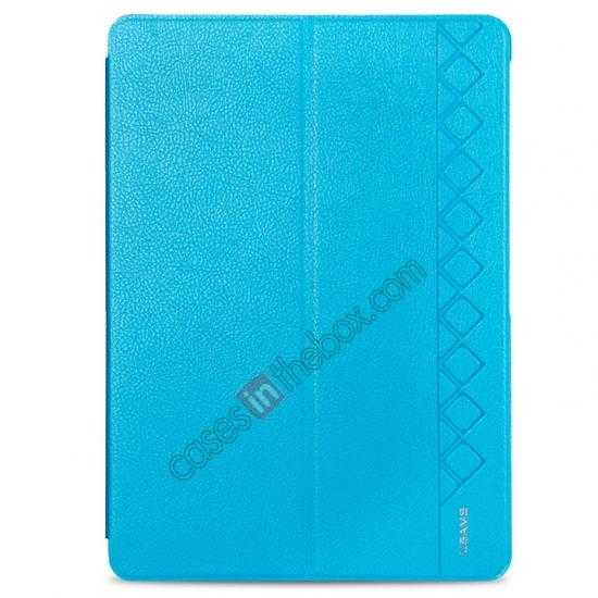wholesale USAMS Starry Sky Series Tri-fold Stand Leather Case for Samsung Galaxy Tab Pro 10.1 T520 - Light Blue