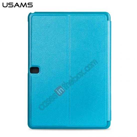 discount USAMS Starry Sky Series Tri-fold Stand Leather Case for Samsung Galaxy Tab Pro 10.1 T520 - Light Blue