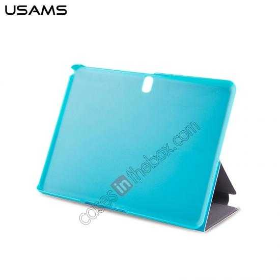 cheap USAMS Starry Sky Series Tri-fold Stand Leather Case for Samsung Galaxy Tab Pro 10.1 T520 - Light Blue