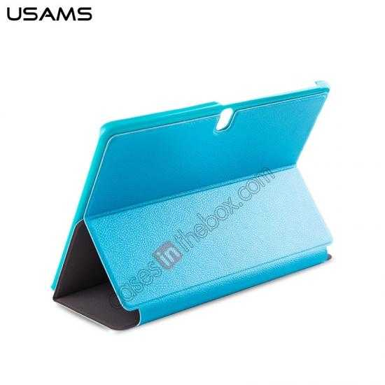 top quality USAMS Starry Sky Series Tri-fold Stand Leather Case for Samsung Galaxy Tab Pro 10.1 T520 - Light Blue
