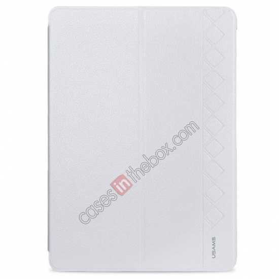 wholesale USAMS Starry Sky Series Tri-fold Stand Leather Case for Samsung Galaxy Tab Pro 10.1 T520 - White