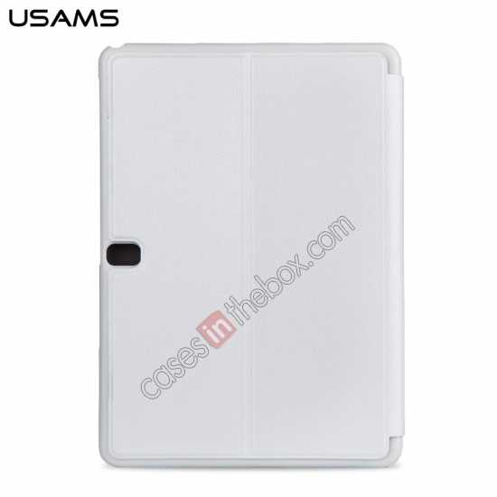 discount USAMS Starry Sky Series Tri-fold Stand Leather Case for Samsung Galaxy Tab Pro 10.1 T520 - White