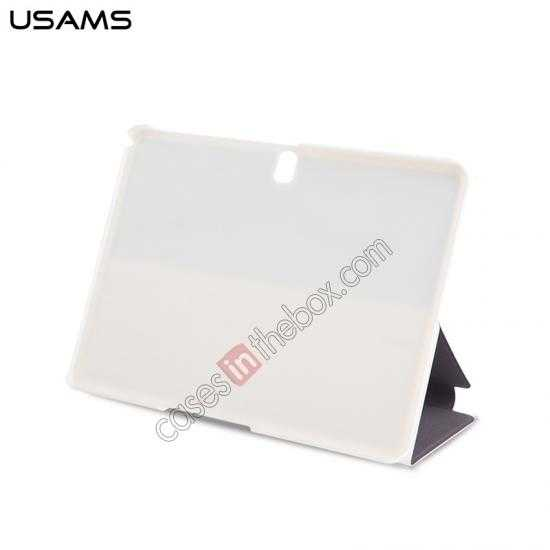 cheap USAMS Starry Sky Series Tri-fold Stand Leather Case for Samsung Galaxy Tab Pro 10.1 T520 - White