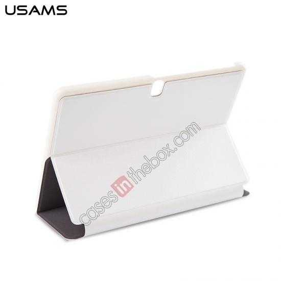 top quality USAMS Starry Sky Series Tri-fold Stand Leather Case for Samsung Galaxy Tab Pro 10.1 T520 - White