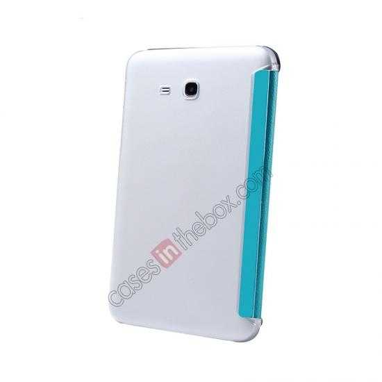 best price USAMS Starry Sky Series Tri-fold Stand Leather Case for Samsung Galaxy Tab3 Lite7 T110 - Light Blue