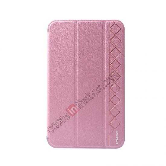discount USAMS Starry Sky Series Tri-fold Stand Leather Case for Samsung Galaxy Tab3 Lite7 T110 - Pink