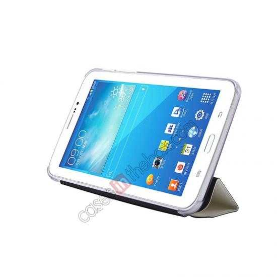 on sale USAMS Starry Sky Series Tri-fold Stand Leather Case for Samsung Galaxy Tab3 Lite7 T110 - White