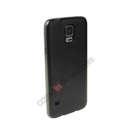 wholesale USAMS Super Thin TPU Gel Case Cover for Samsung Galaxy S5 - Transparent Black